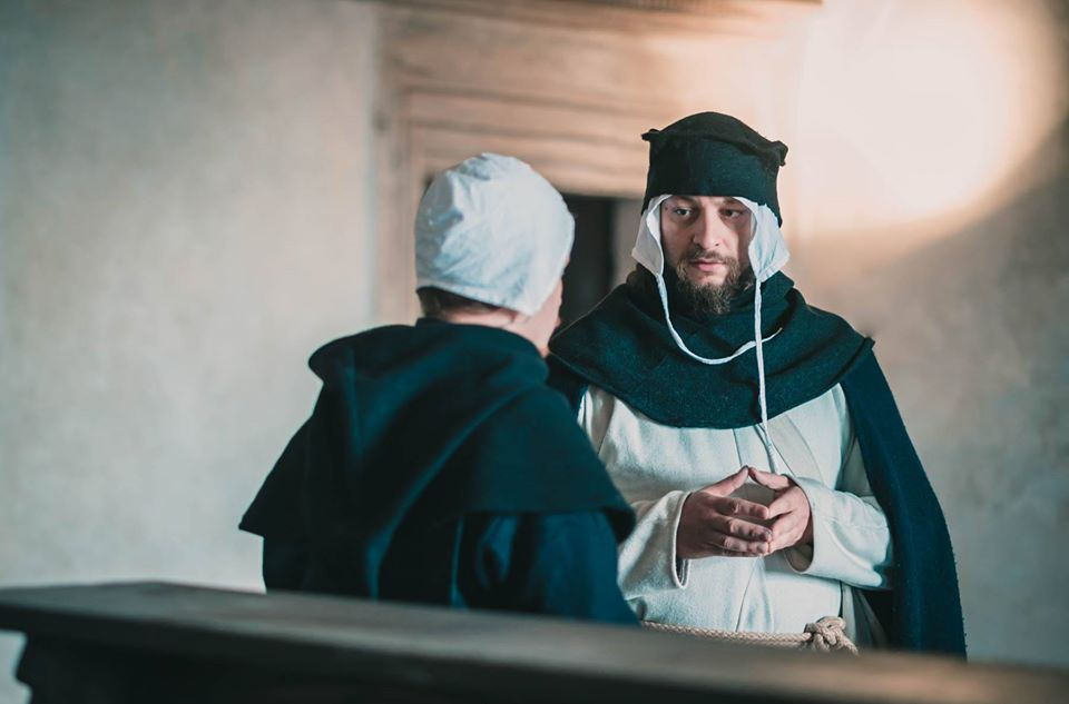 Dominicans. In the game you meet the Inquisitor and his helpers. You can play Father Arnaud's character